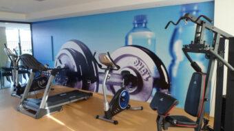 Adesivo de parede para decorar academias